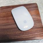 iMac 5Kにピッタリのマホガニー製マウスパッドが残念だった