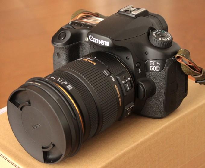 シグマ17-50mm F2.8 EX DC OS HSMをつけた60D