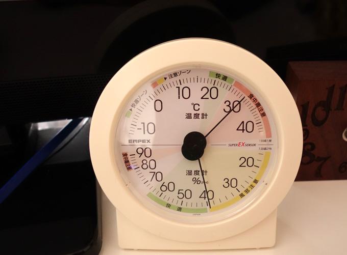 この日の室温は30度
