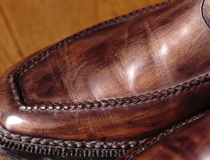Berluti(ベルルッティ)のヴェネチアレザーの革質