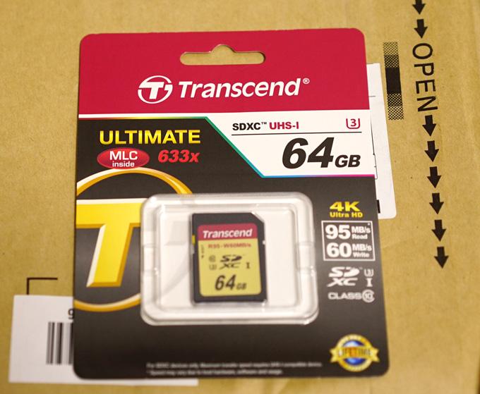トランセンドのSDXCカード64GB
