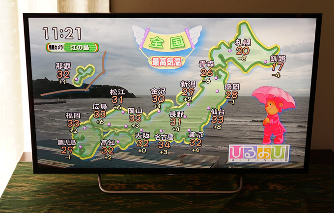 ソニーの液晶テレビBRAVIA「KJ-40W700C」の美しい映り