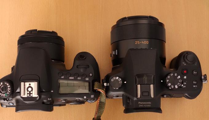 60DとFZ1000の大きさ比較