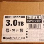 Amazonで大人気のI-O DATA外付ハードディスクHDC-LA3.0をMac用に購入
