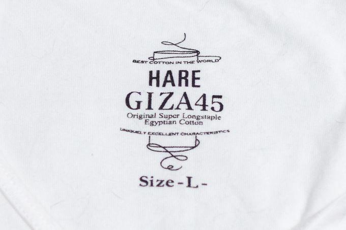 HAREのGIZA45の着心地抜群のTシャツ