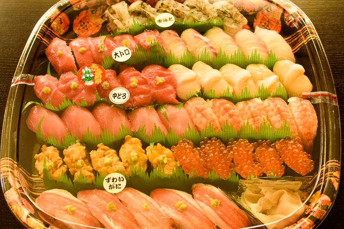 マルトの寿司5人前で9,000円