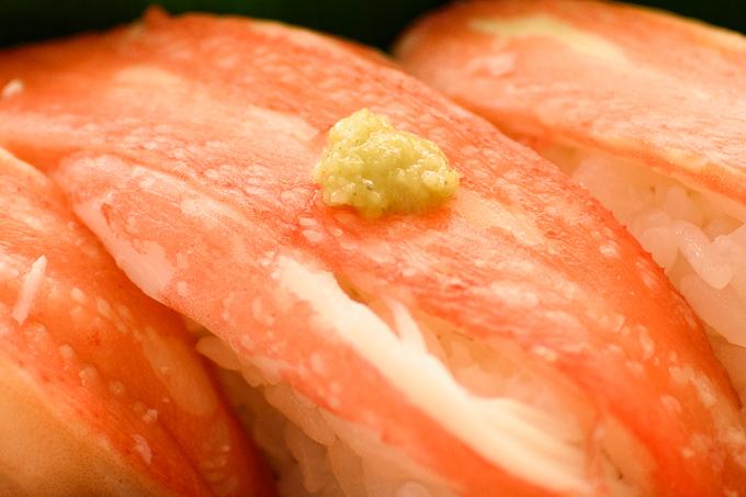 マルトの寿司ネタずわいガニ