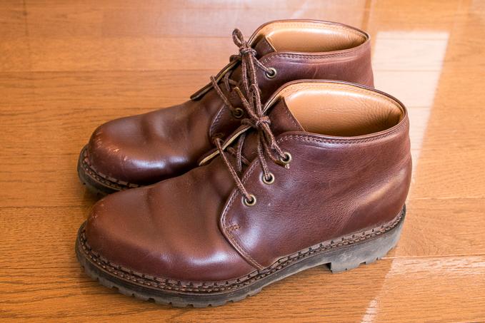 貴重なクロムエクセルを使用した安藤製靴のチャッカブーツ250
