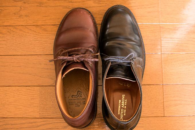 オールデンのチャッカブーツと安藤製靴のチャッカブーツのデザイン比較