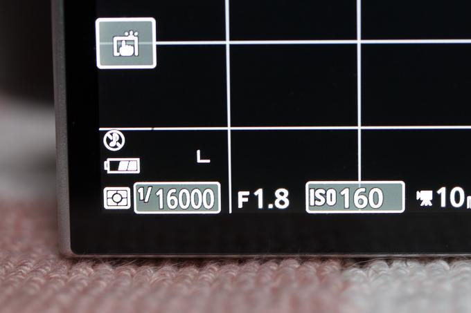 Nikon 1 J5のシャッタースピードは最高1/16000