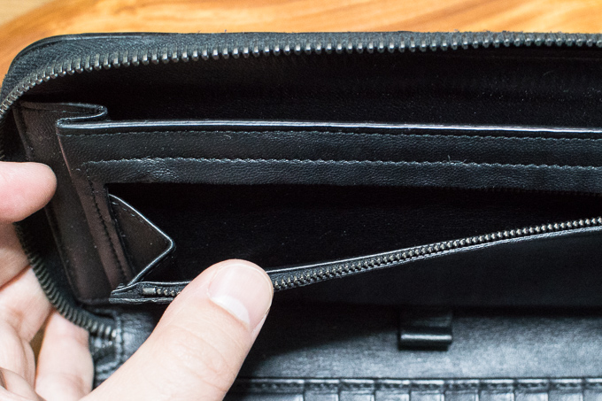 ボッテガヴェネタの財布は小銭やお札が大量に収納可能