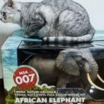 猫並みサイズ!海洋堂のアフリカゾウフィギュアの完成度