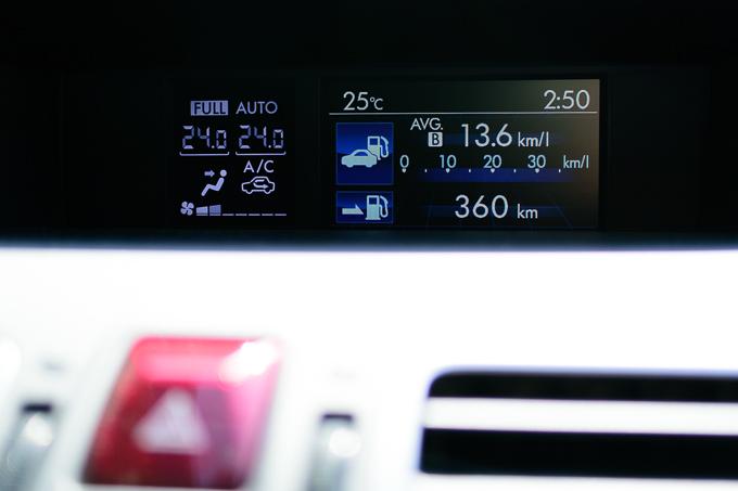 スバルXVの燃費は13から15くらい
