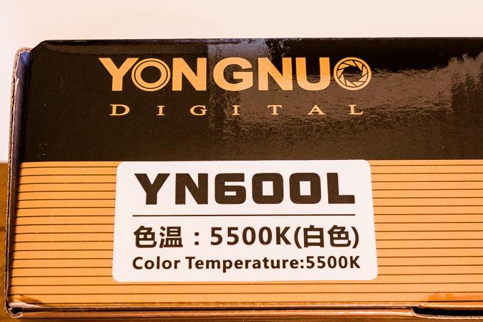 YONGNUOのYN-600LEDビデオライトには白300黄300があるらしい