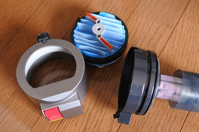 シャープのコードレス掃除機FREED2(フリード)EC-SX200-Aのフィルター清掃
