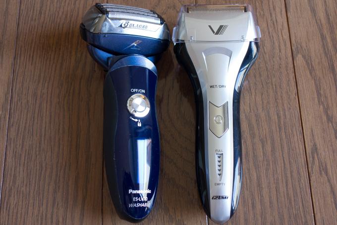 パナソニックのラムダッシュと萌えシェーバーIZUMIの剃り味比較
