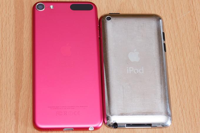 昔のiPod touchとiPod touch第6世代の比較その2