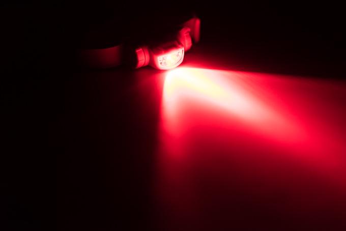 ビクセン(Vixen)天体観測用ライト「SG-L01」の赤色LEDの明るさ