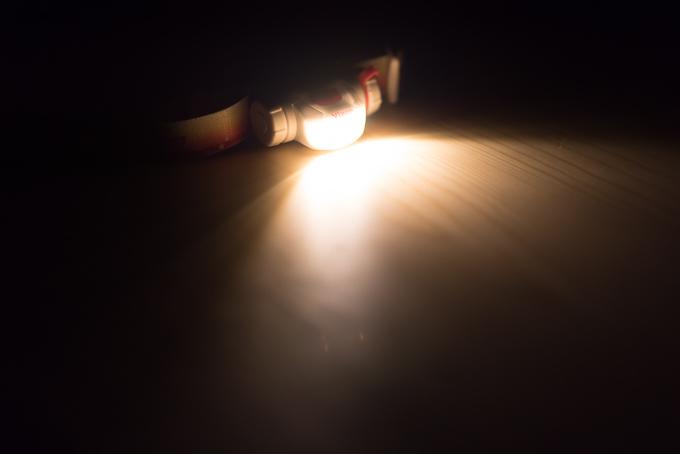 ビクセン(Vixen)天体観測用ライト「SG-L01」の白色LEDの明るさ