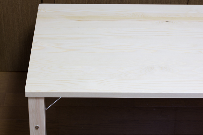 YAMAZEN(山善)折りたたみ式パイン材ローテーブルがガタつく