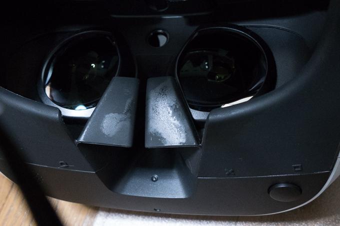 PSVRのヘッドセットは意外と汚れる