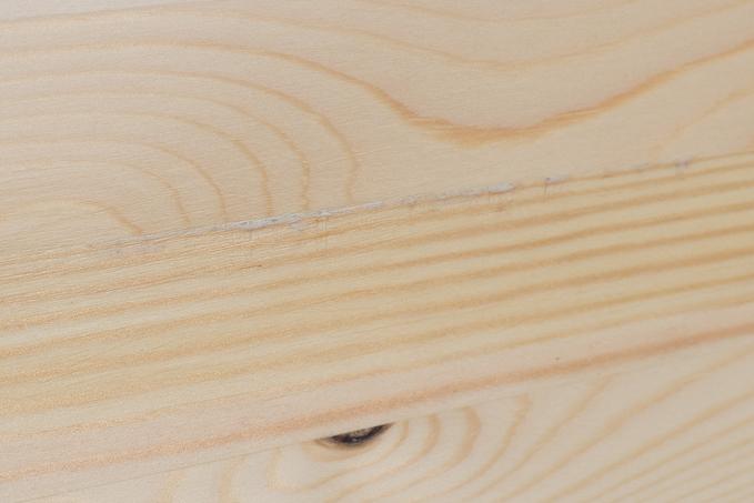 YAMAZEN(山善)折りたたみ式パイン材ローテーブルの傷