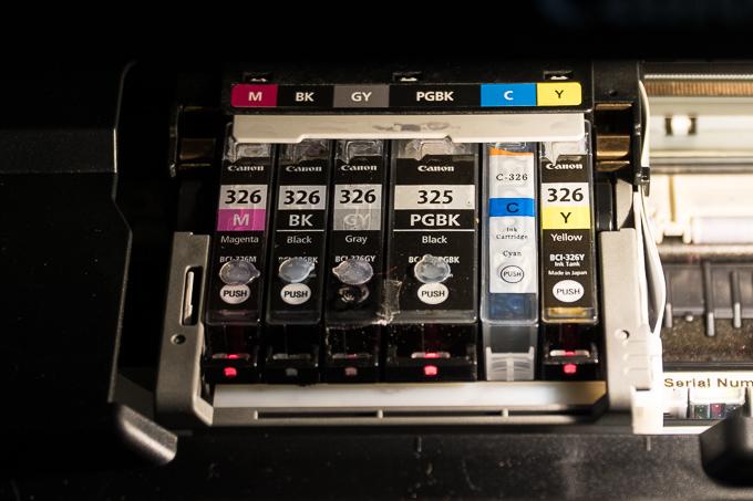BCI325+326 6色890円!Angelshopの激安Canon互換インクをプリンターに装着してみた