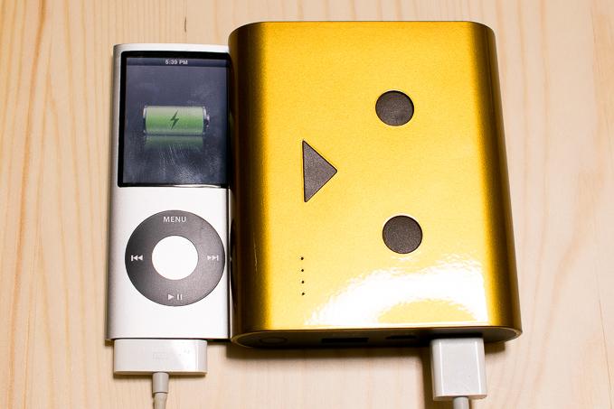 ダンボーモバイルバッテリーで充電可能だったiPod nano