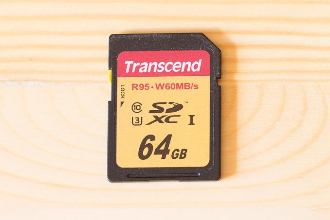 α6500に利用しているトランセンドのSDカード