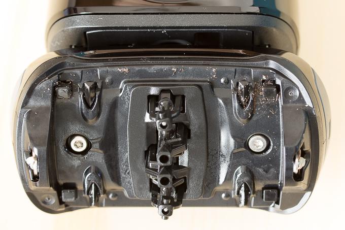 ブラウンのシェーバー「シリーズ9」9250CC自動クリーニングで洗浄後