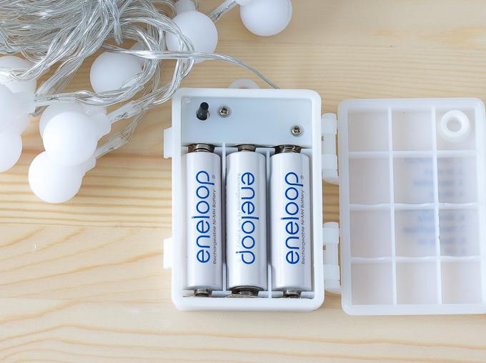 激安899円で買えるLEDイルミネーションライトライト40球は乾電池式