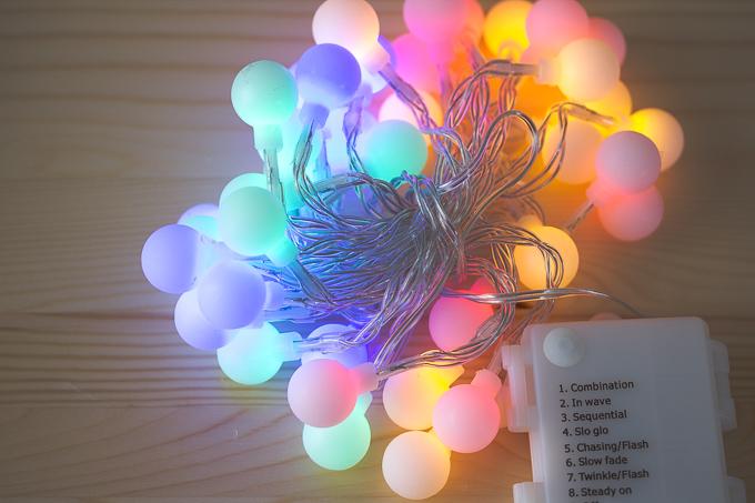 激安899円で買えるLEDイルミネーションライトライト40球の光で癒されてみた