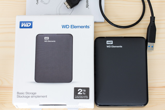 WESTERNDIGITALのポータブルハードディスクWD Elements Portable WDBU6Y0020BBK-EESN