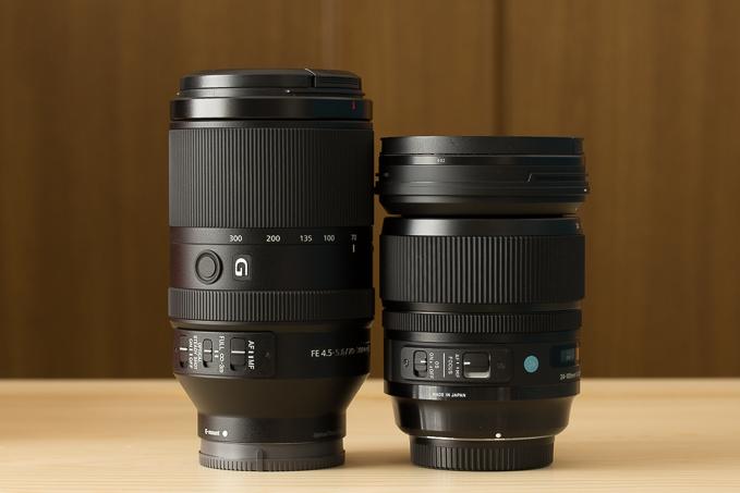 SEL70300Gと24-105mm F4 DG OS HSM