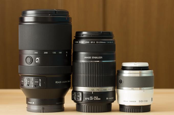 SEL70300Gと他メーカーの望遠レンズ