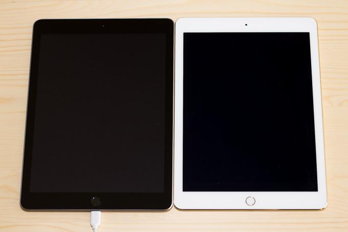 新型iPadのゴールドとスペースグレイで異なるベゼル色
