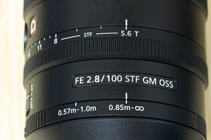 SEL100F28GMの質感