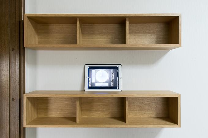 壁に付けられる家具を2段で設置してみた