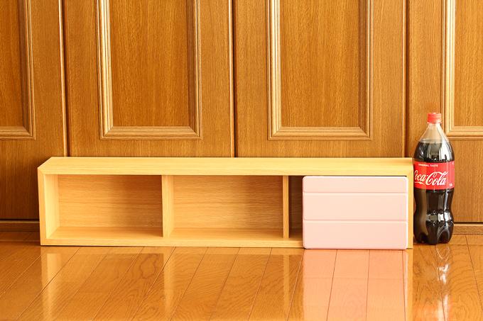 無印良品の壁に付けられる家具(オーク材)のサイズ