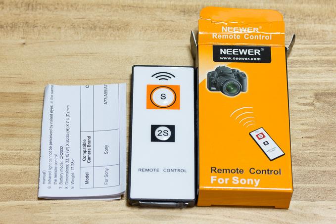 NEEWERソニーカメラ用ワイヤレスリモコン付属品