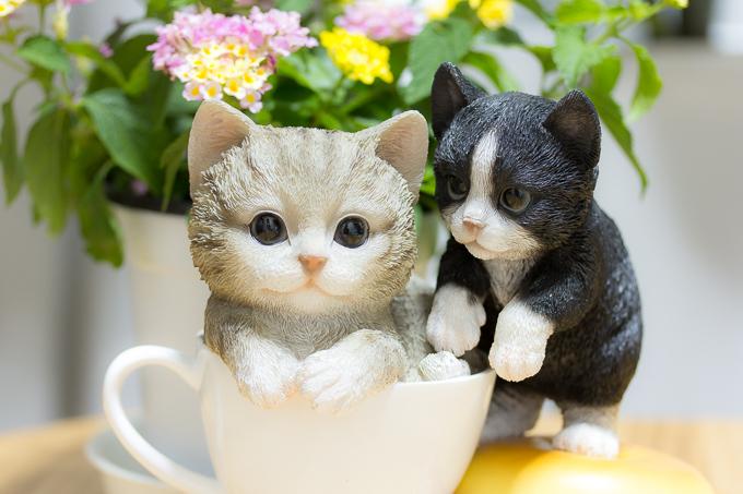 レジン製のリアルな猫の置物(オーナメント)が超かわいい!!