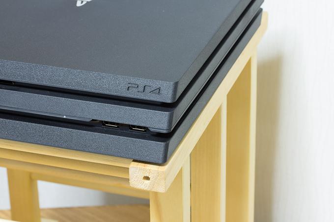 PS4 Proの置き台としてもぴったりのイケアのワインラックHUTTEN