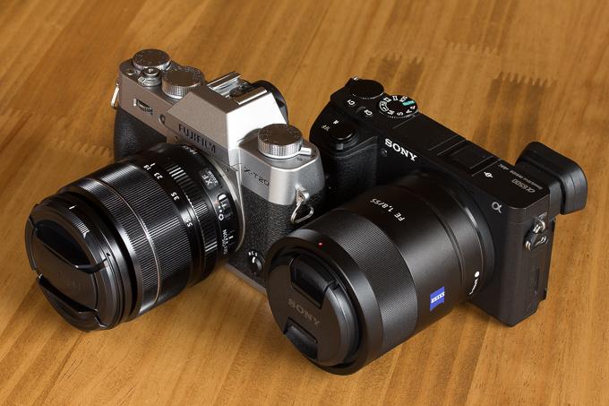 X-T20とα6500とのサイズ比較その3