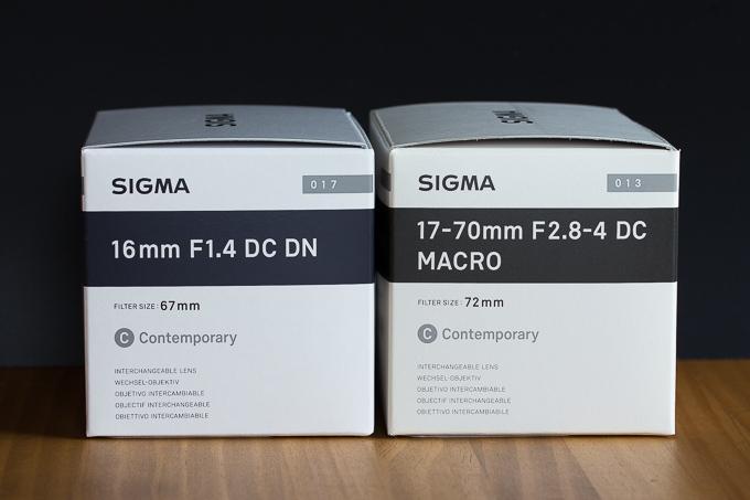 シグマ16mm F1.4 DC DNの外箱