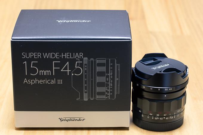 コシナ「フォクトレンダー」SUPER WIDE-HELIAR 15mm F4.5 E-mount開梱