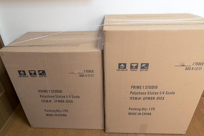 とてつもなく大きな2箱で届いたプライム1ガッツのフィギュア