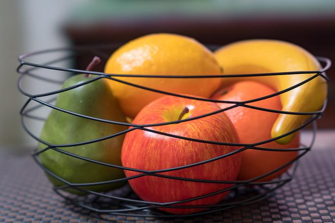 ニトリで購入した食品サンプル「フルーツバスケット」