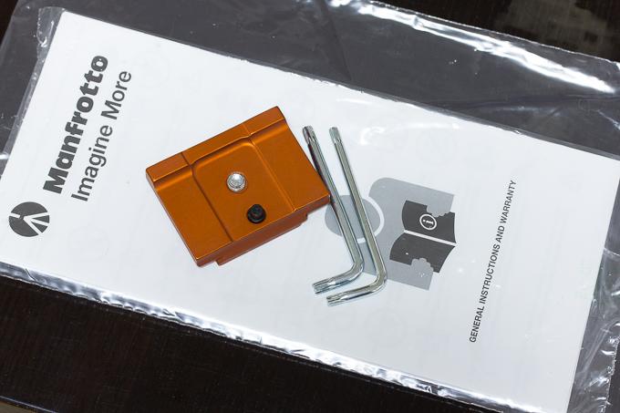 マンフロットbefreeアドバンス ソニーα用の付属品と専用プレート
