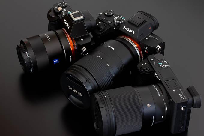 現在所有中のソニーEマウントカメラの数々