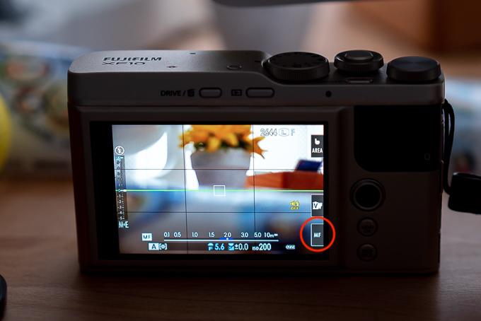 液晶モニター1クリックでMF撮影可能